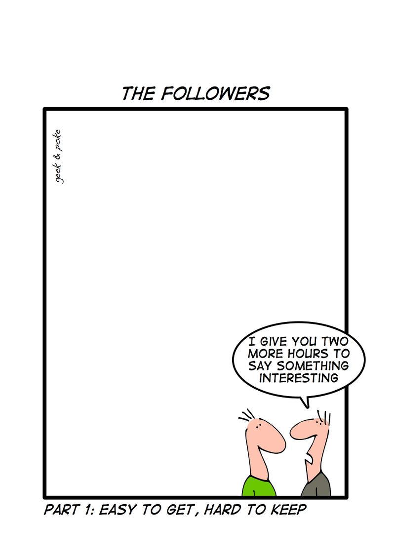 The Followers cartoon about Twitter
