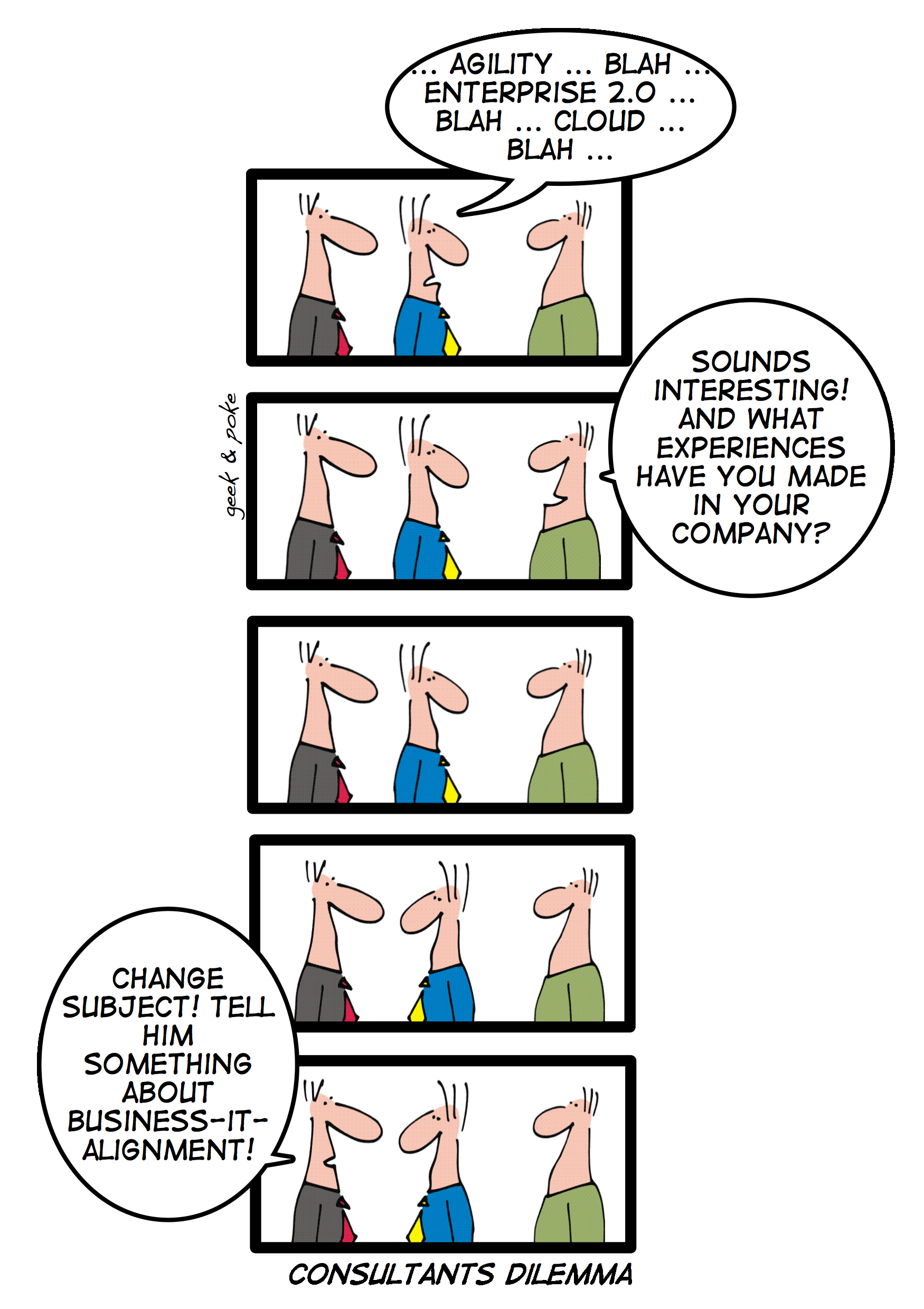 Geek & Poke Consultants Dilemma
