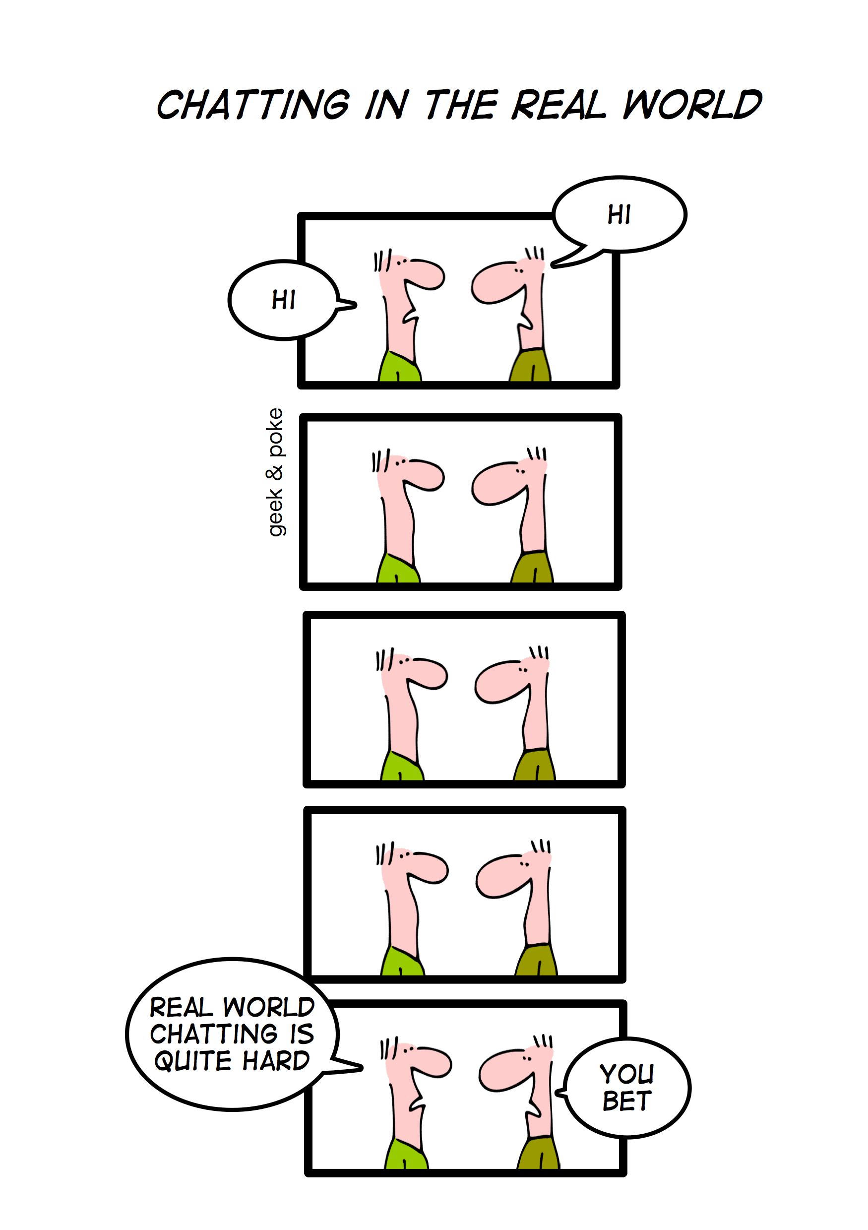 Image making fun at real life Networking
