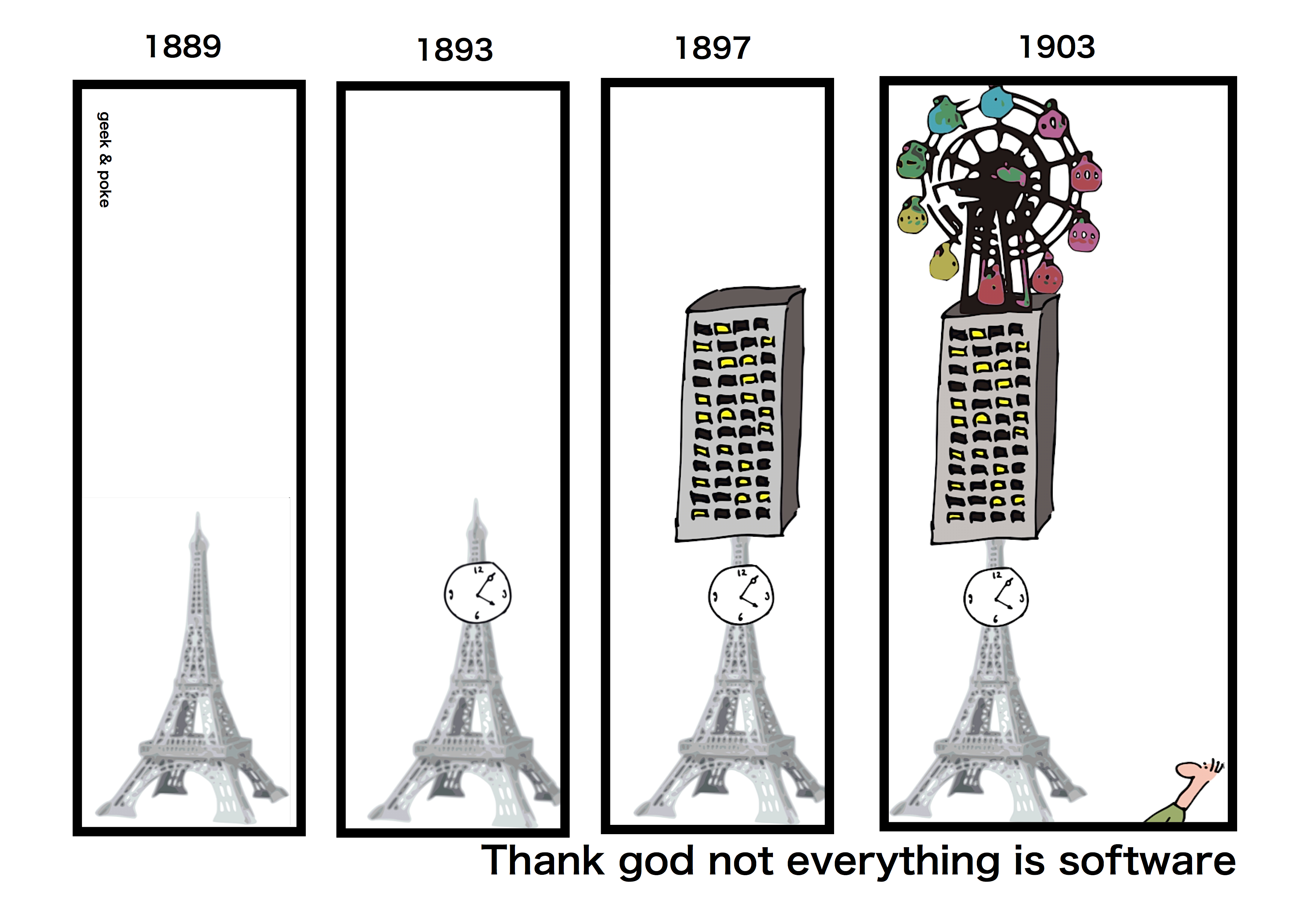 Geek & Poke: Thank god not everything is software