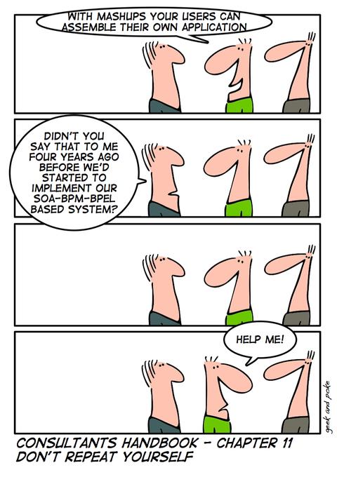 Mashups vs SOA, Geek & Poke